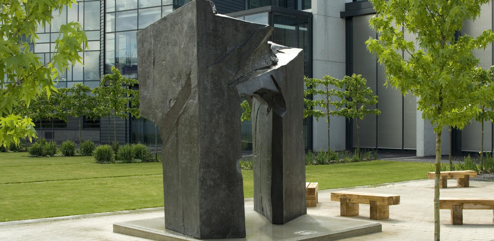 Taichi Arch - Gate of Health, sculpture outside of the CRUK Cambridge Institute